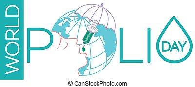 banner on world polio day