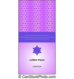 banner or card with Islamic ornaments