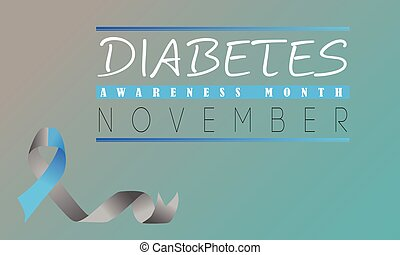 Banner Or Poster Vector Design For Diabetes Awareness Month