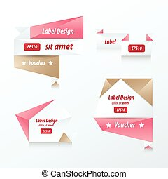 banner origami  love color