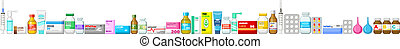 Banner pharmacy, medicine. Vector illustration
