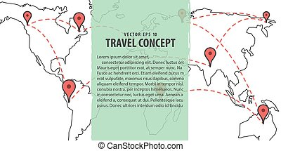 Travel check list icons template banner vacancy planning eps banner planning location world map illustration vector background travel concept gumiabroncs Image collections