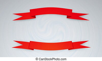 """""""Banner ribbon background, insignia, red, template."""""""