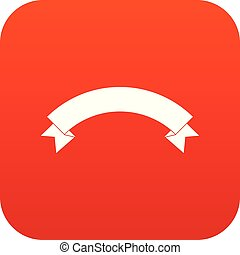 Banner ribbon icon digital red