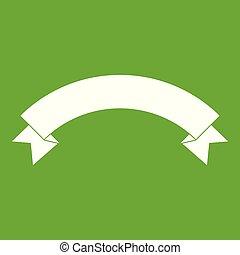 Banner ribbon icon green
