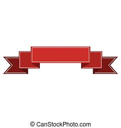 banner ribbon red graphic