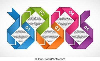 banner., ribbons., firma, infographics, information, eller, præsentationer, skabelon