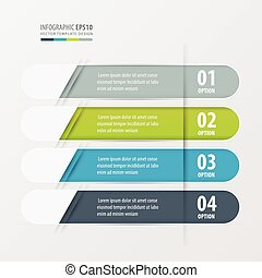 Banner Rounded design green, blue, gray color