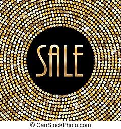 Sale Label Background Vector Illustration