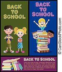 banner, schule, 2, satz, teil