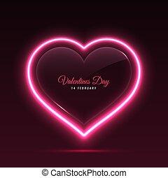 Banner Screen Neon Heart