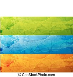 Banner Set - Banner tet blue green orange
