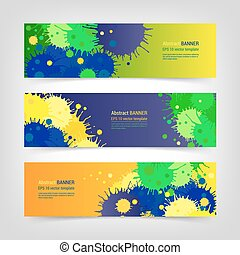 Banner set of blots