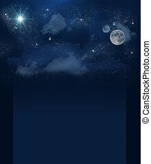 Banner set of brilliant star sky