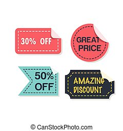 Banner Set Of Great Price Vector Image