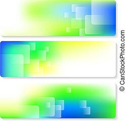Banner Set - Set of 3 label designs in eps10 format.