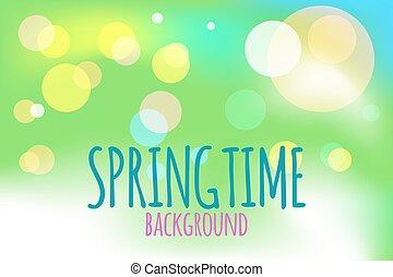 Banner springtime