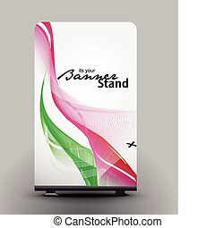 banner, stand
