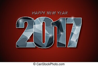 banner template (background) Happy New Year 2017