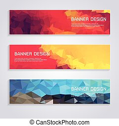 Banner Template Colorful geometric