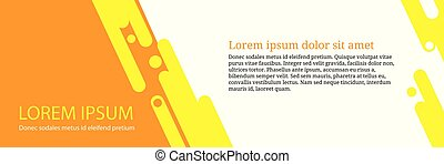 banner template design with abstract geometric shape background