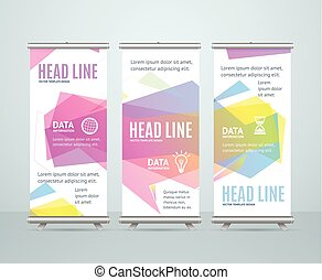 Banner Template with Abstract Geometric Bubble Speech. Vector