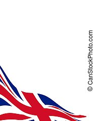 Banner template with flag of United Kingdom