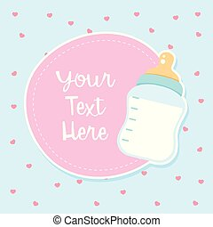 Banner template with milk bottle