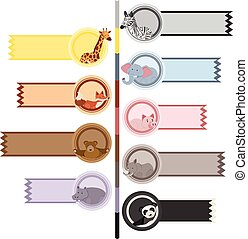 Banner templates with cute animals