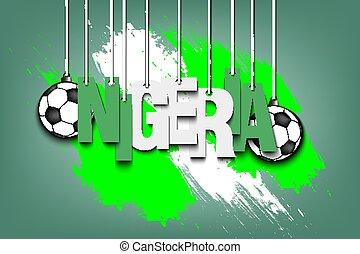 Banner the inscription Nigeria