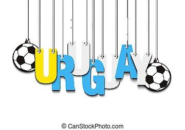Banner the inscription Uruguay