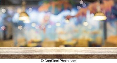 banner., trä topp, panorama, fönster, bakgrund, fläck, bord...