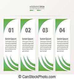 banner vector design 4 item green color