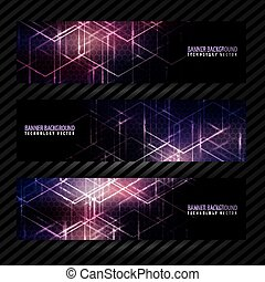 Banner vector design background