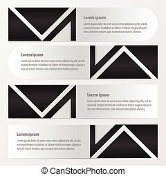 Banner vector design    black and white color