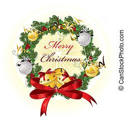 banner., vector, illustration., kerstmis