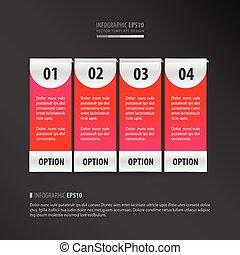 banner vector template 4 item neon pink