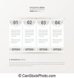 banner vector template 4 item white color