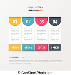 banner vector template 4 item yellow, blue, pink color