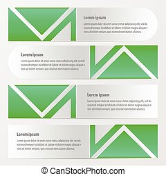 Banner vector template green color