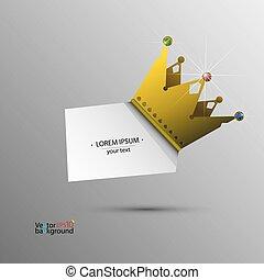banner, vektor, krone