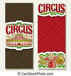 banner, vektor, zirkus