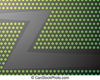 banner., vert, métallique