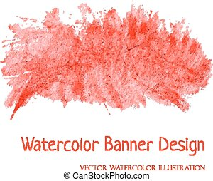 banner, watercolor