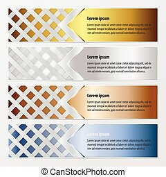 banner weave  gold, bronze, silver, blue color