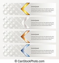 banner weave style  gold, bronze, silver, blue color