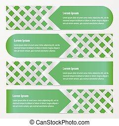 banner weave vector green color