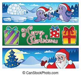 banner, weihnachten, sammlung, 3