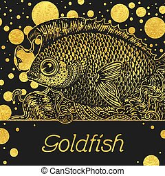 Banner with a gold fish