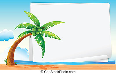 beach scene clipart border. banner with beach illustration of a scene clipart border
